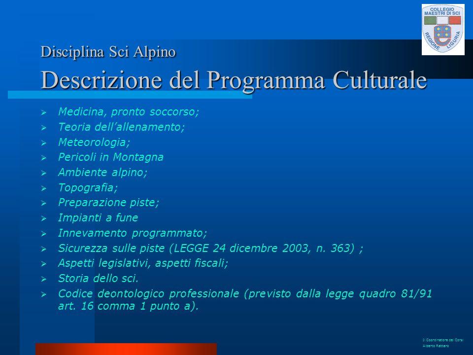 Disciplina Sci Alpino Descrizione del Programma Culturale