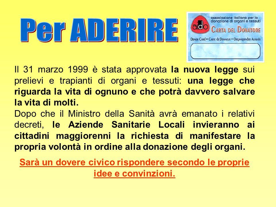 Per ADERIRE