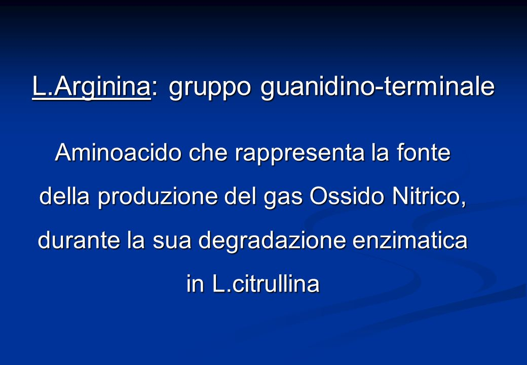 L.Arginina: gruppo guanidino-terminale