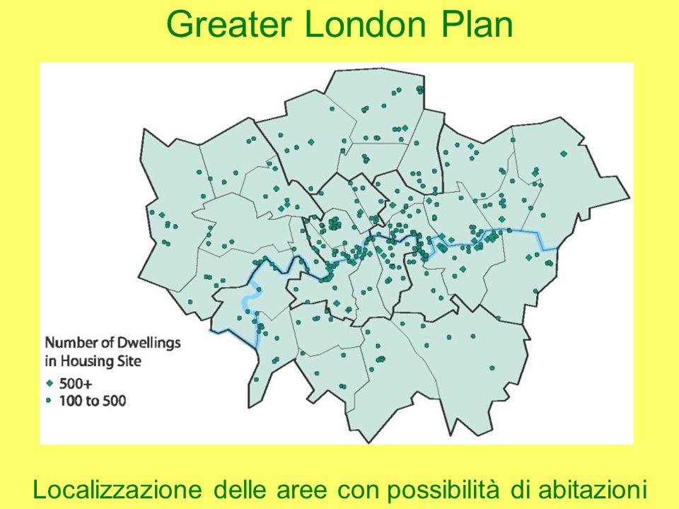 Localizzazione delle aree con possibilità di abitazioni