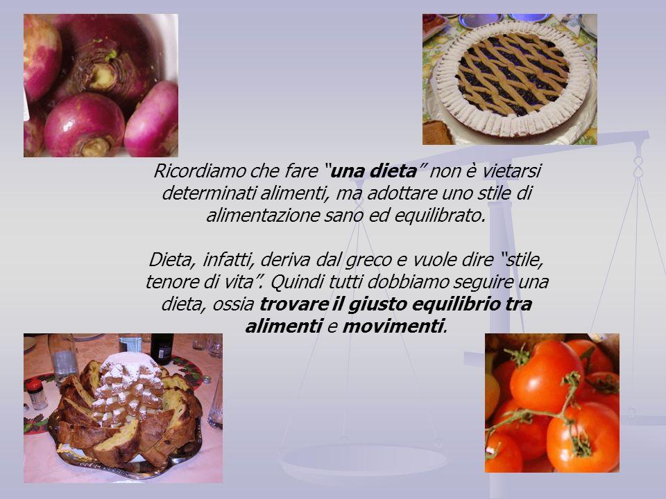 Ricordiamo che fare una dieta non è vietarsi determinati alimenti, ma adottare uno stile di alimentazione sano ed equilibrato.