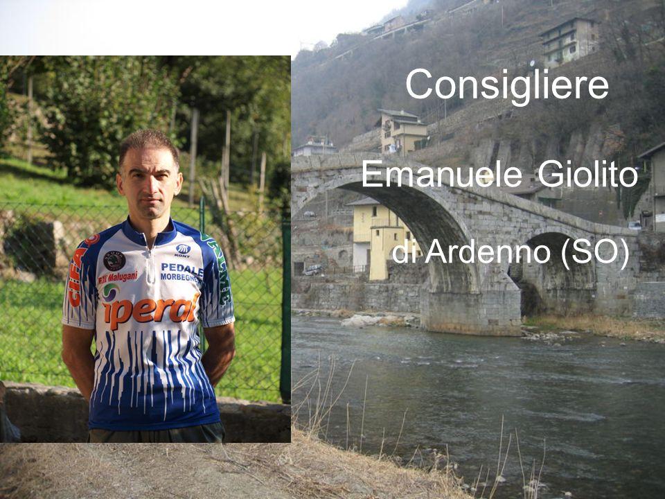Consigliere Emanuele Giolito di Ardenno (SO)