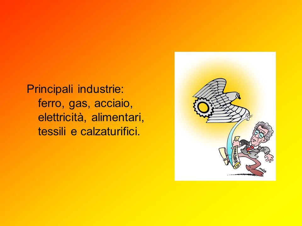 Principali industrie: ferro, gas, acciaio, elettricità, alimentari, tessili e calzaturifici.