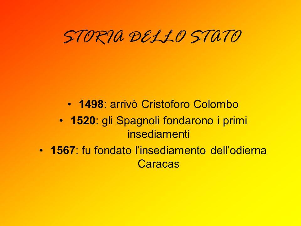 STORIA DELLO STATO 1498: arrivò Cristoforo Colombo