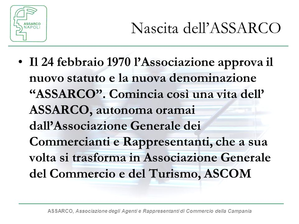 Nascita dell'ASSARCO