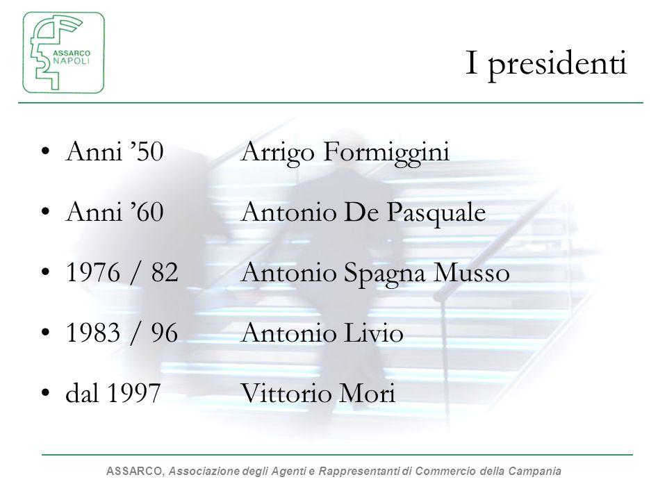 I presidenti Anni '50 Arrigo Formiggini Anni '60 Antonio De Pasquale