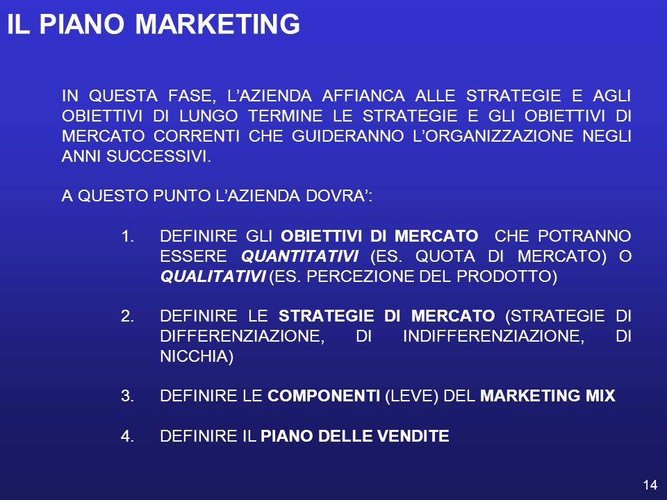 IL PIANO MARKETING