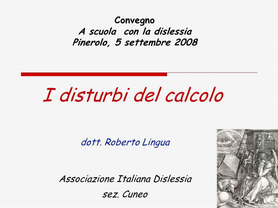 Convegno A scuola con la dislessia Pinerolo, 5 settembre 2008