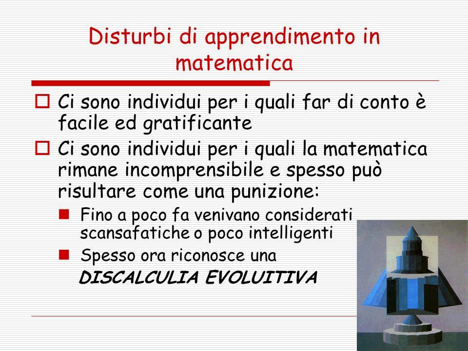 Disturbi di apprendimento in matematica
