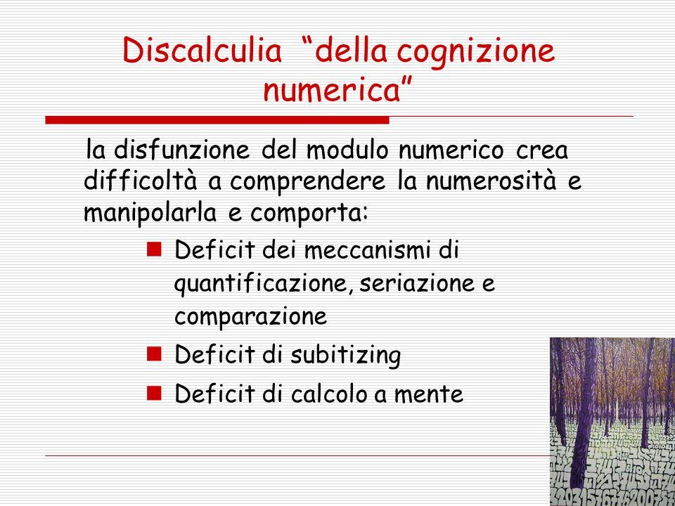 Discalculia della cognizione numerica
