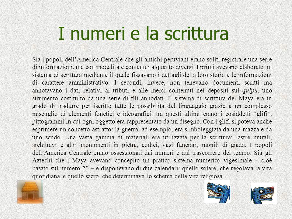 I numeri e la scrittura