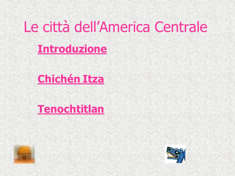 Le città dell'America Centrale