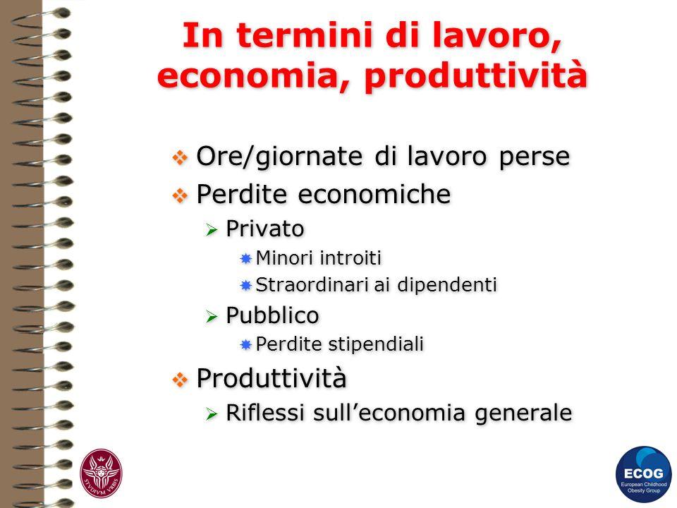 In termini di lavoro, economia, produttività