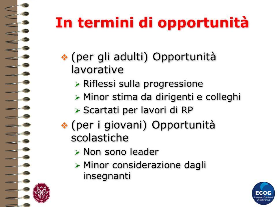 In termini di opportunità