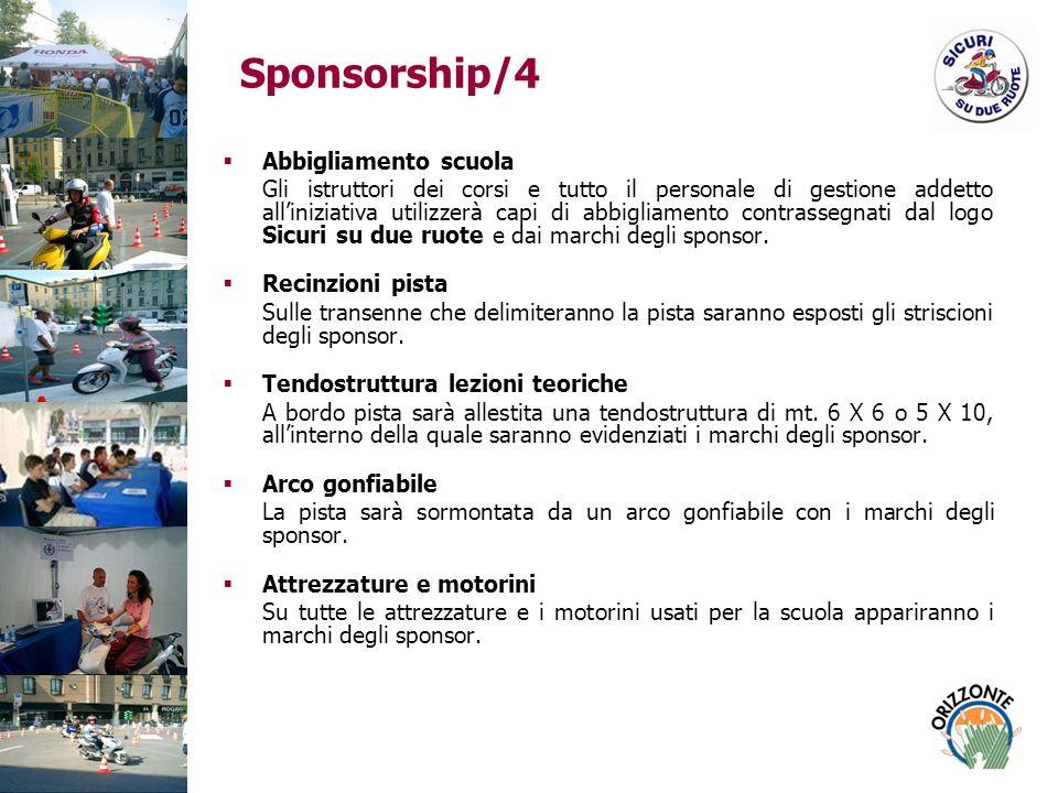 Sponsorship/4 Abbigliamento scuola