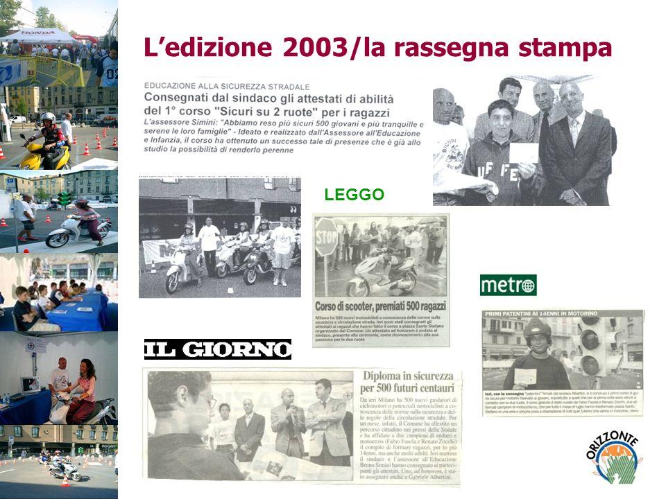 L'edizione 2003/la rassegna stampa