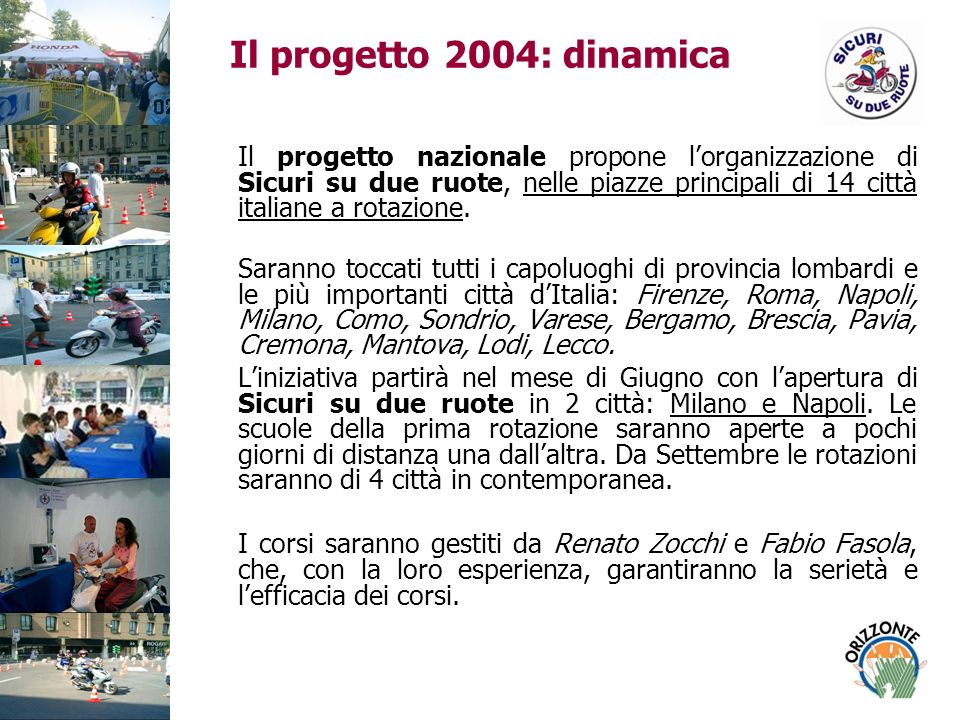 Il progetto 2004: dinamica