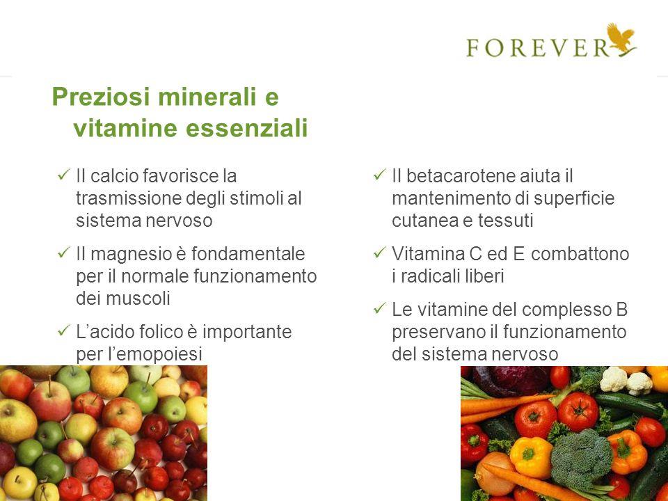Preziosi minerali e vitamine essenziali