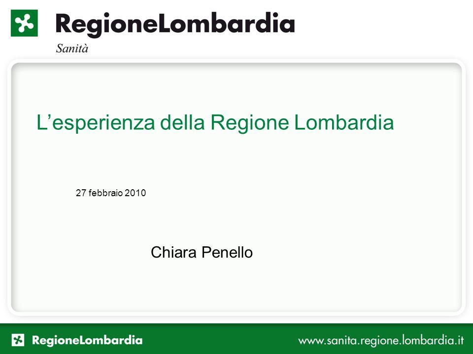 L'esperienza della Regione Lombardia
