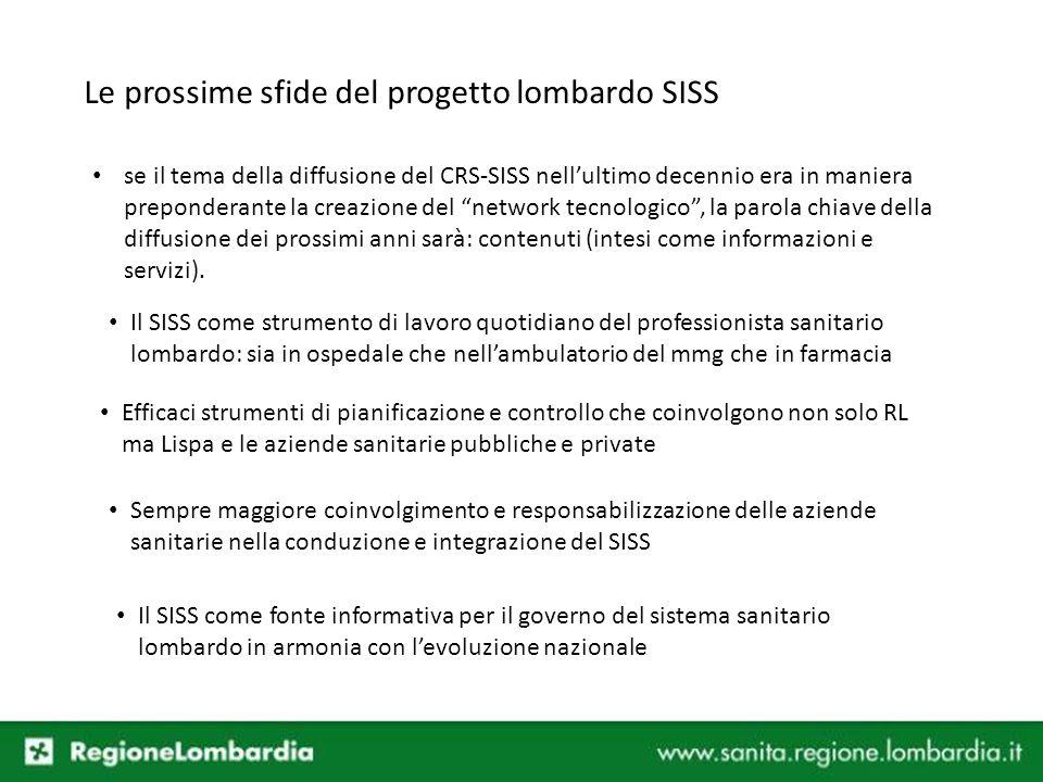 Le prossime sfide del progetto lombardo SISS
