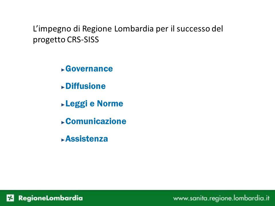 L'impegno di Regione Lombardia per il successo del progetto CRS-SISS