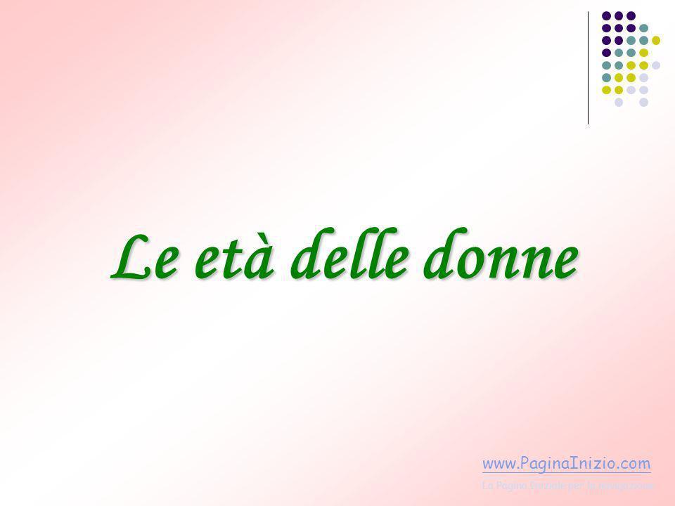 Le età delle donne www.PaginaInizio.com