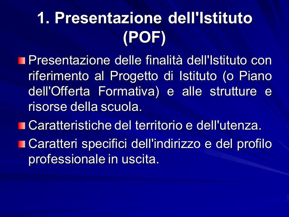 1. Presentazione dell Istituto (POF)