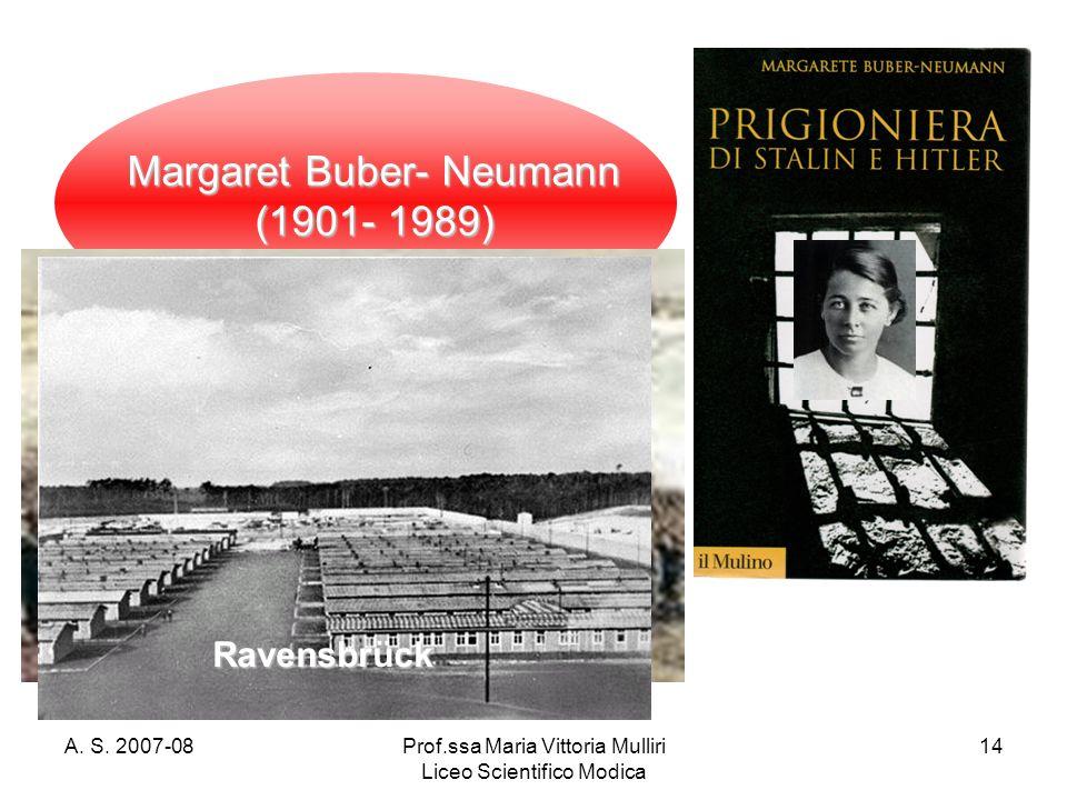 confronto Karaganda e Ravensbrück Margaret Buber- Neumann (1901- 1989)