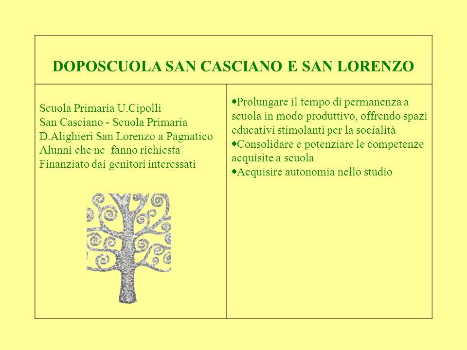 DOPOSCUOLA SAN CASCIANO E SAN LORENZO