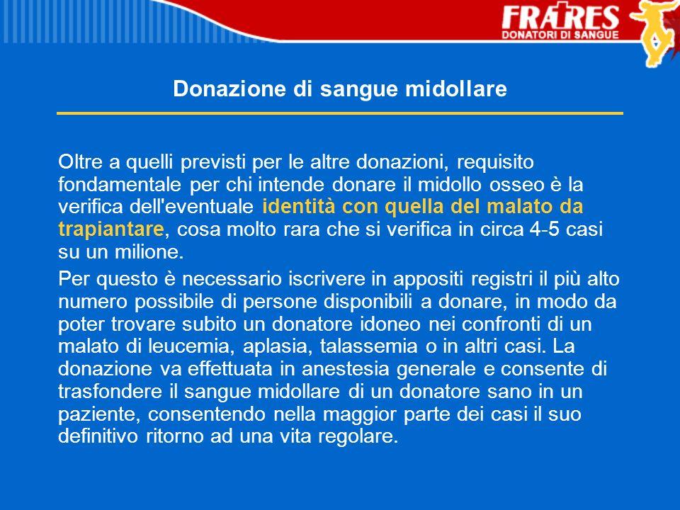 Donazione di sangue midollare