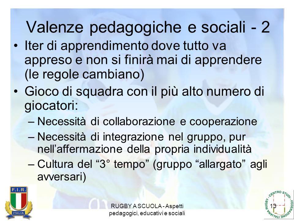 Valenze pedagogiche e sociali - 2