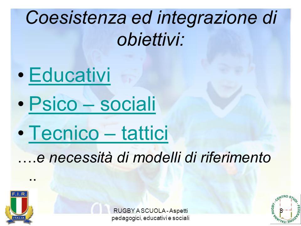 Coesistenza ed integrazione di obiettivi:
