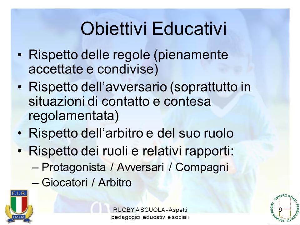 RUGBY A SCUOLA - Aspetti pedagogici, educativi e sociali