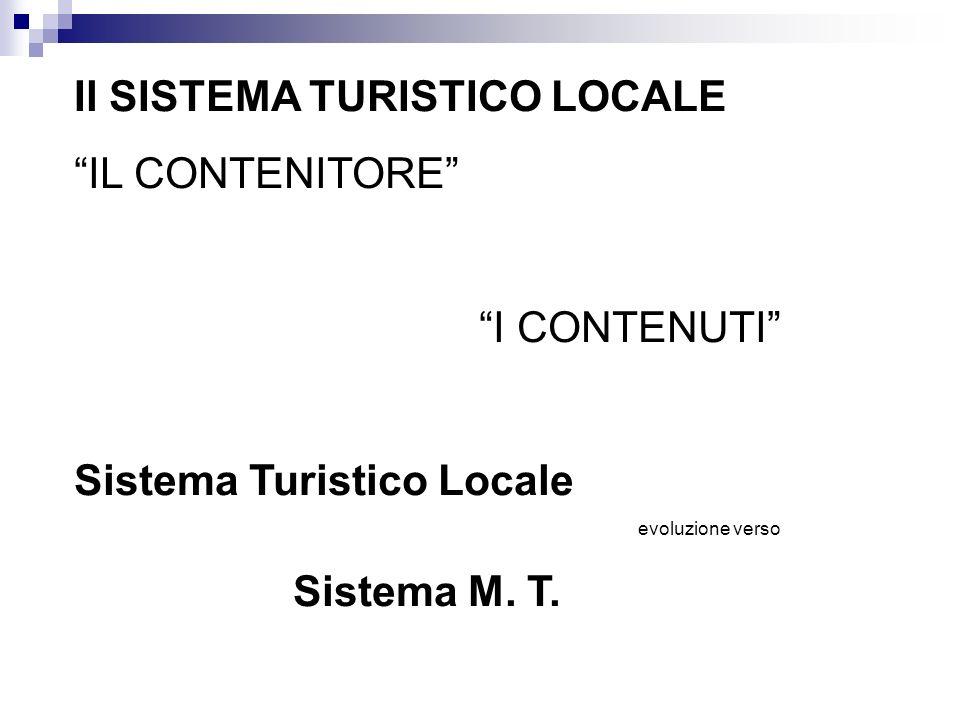 Il SISTEMA TURISTICO LOCALE IL CONTENITORE