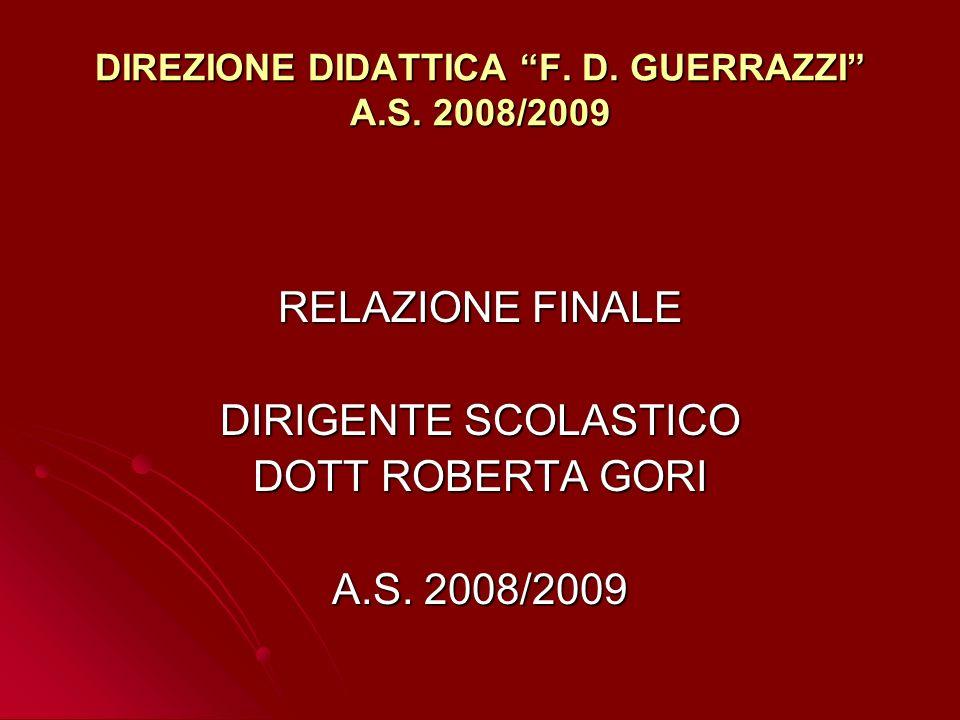 DIREZIONE DIDATTICA F. D. GUERRAZZI A.S. 2008/2009