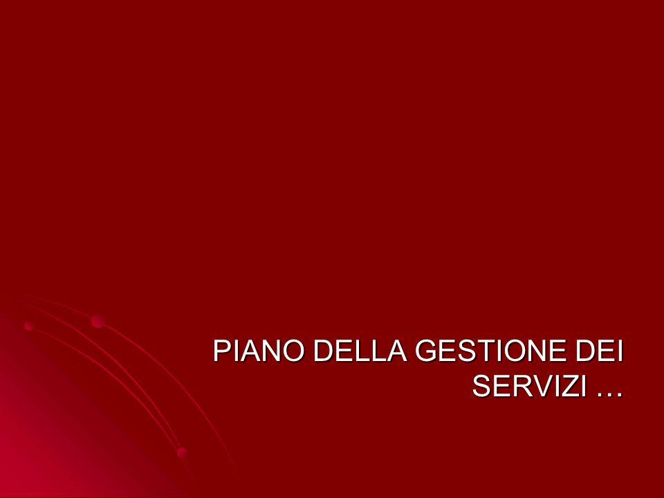 PIANO DELLA GESTIONE DEI SERVIZI …