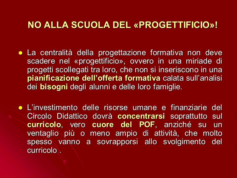 NO ALLA SCUOLA DEL «PROGETTIFICIO»!