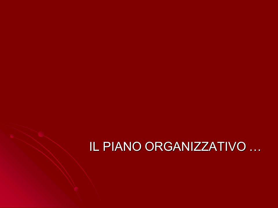 IL PIANO ORGANIZZATIVO …
