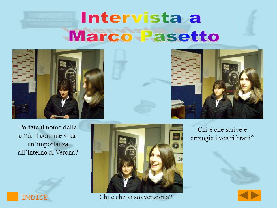 Intervista a Marco Pasetto