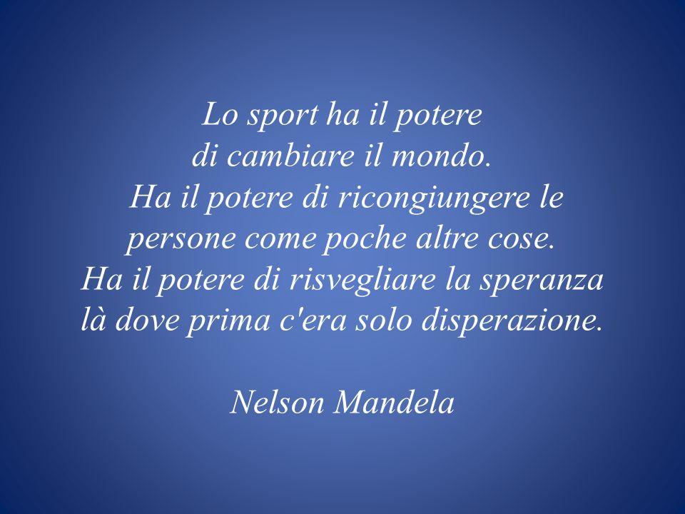 Lo sport ha il potere di cambiare il mondo