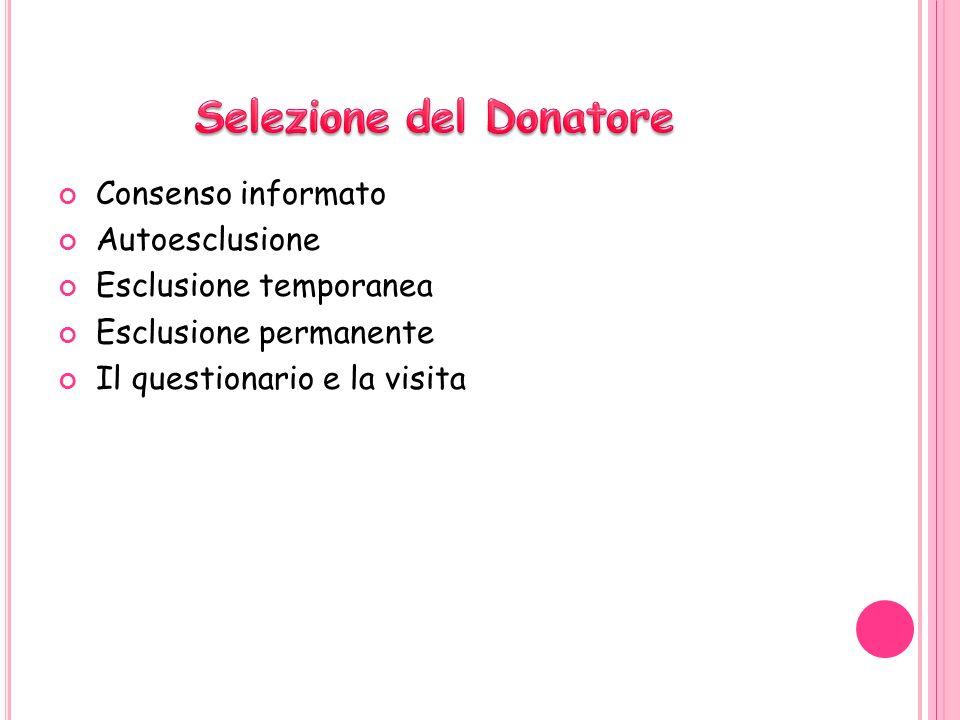 Selezione del Donatore