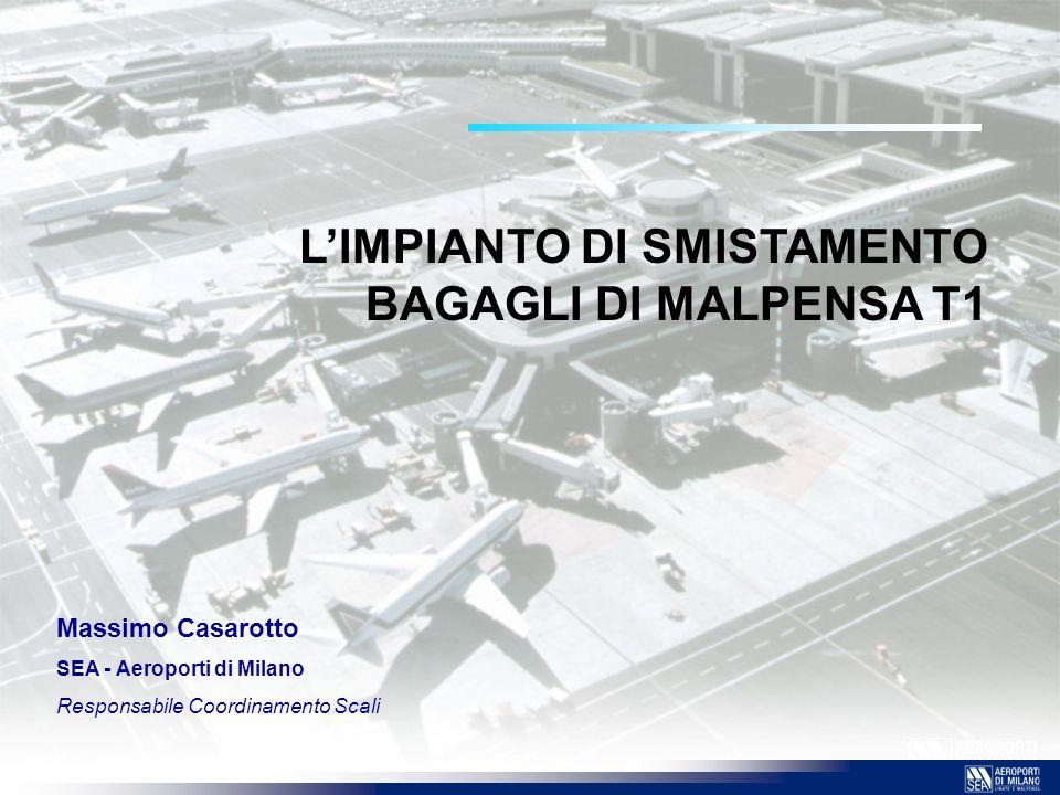 L'IMPIANTO DI SMISTAMENTO BAGAGLI DI MALPENSA T1