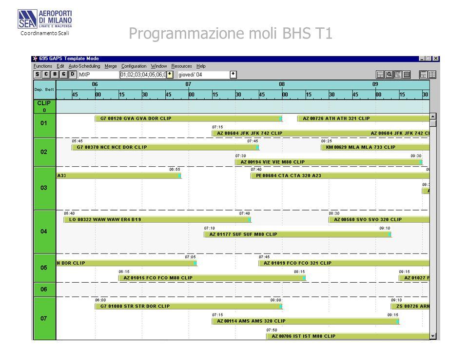Programmazione moli BHS T1