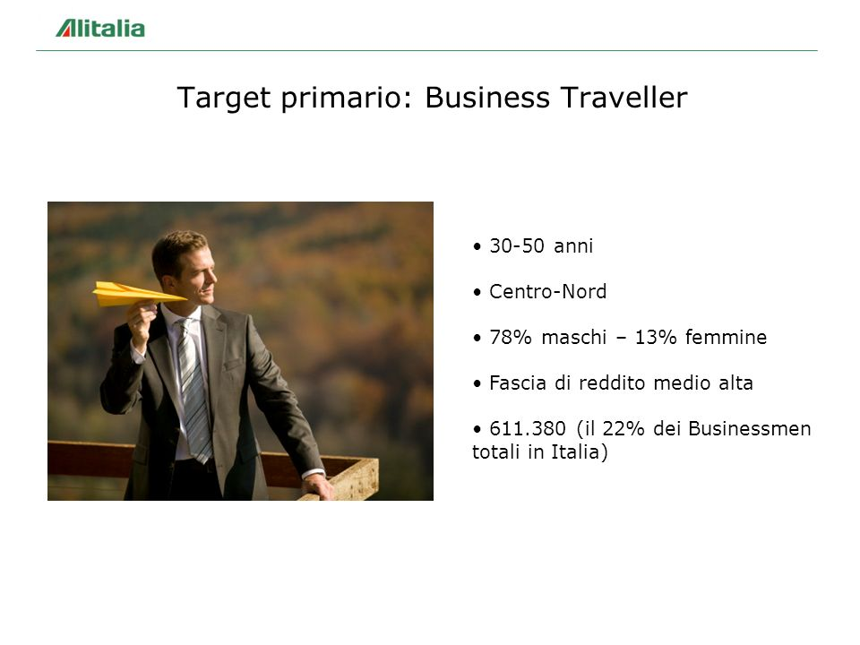 Target primario: Business Traveller