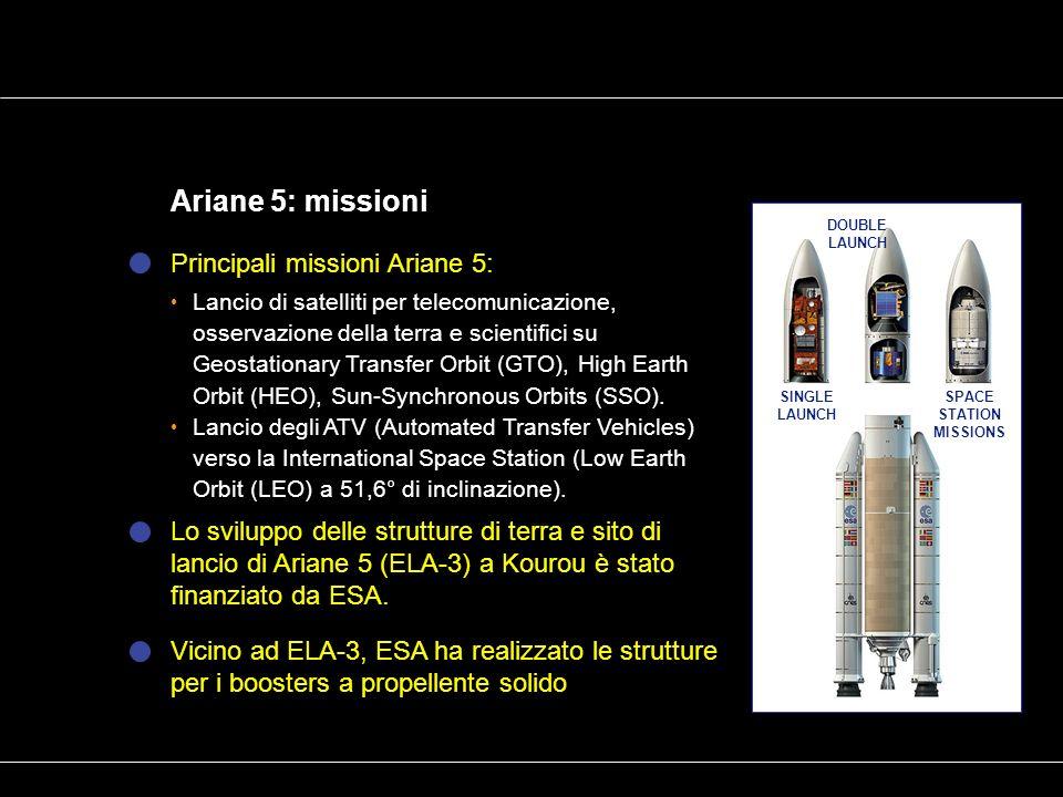 Ariane 5: missioni Principali missioni Ariane 5: