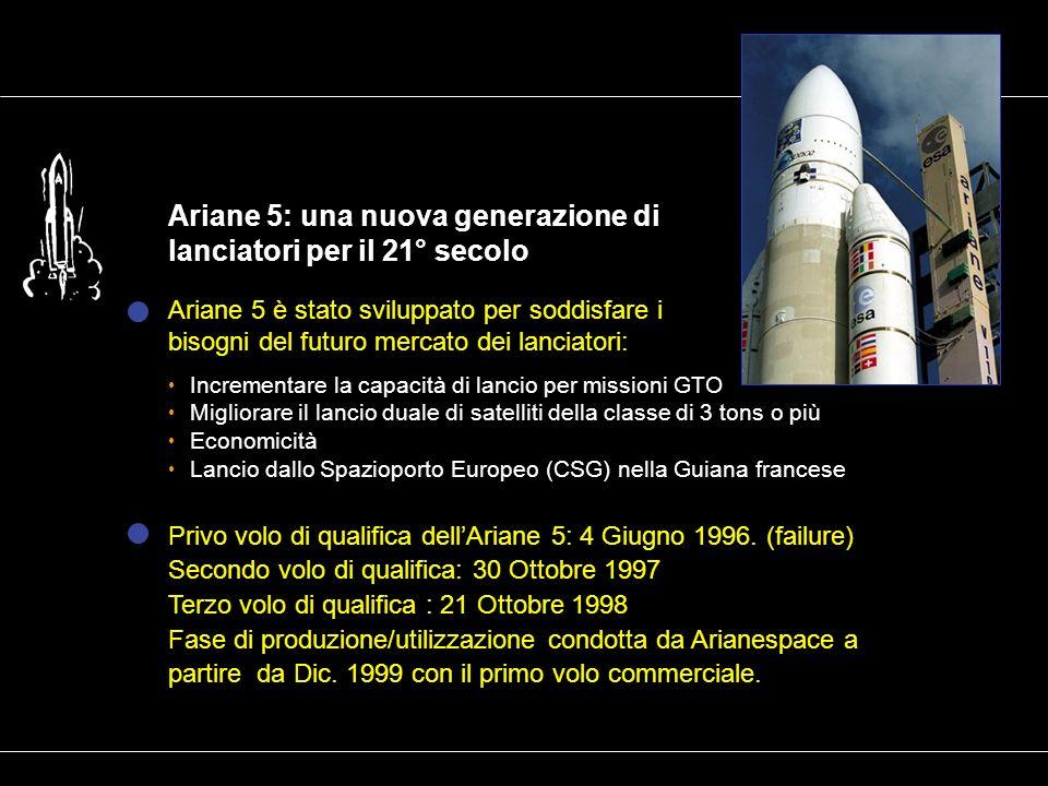 Ariane 5: una nuova generazione di lanciatori per il 21° secolo