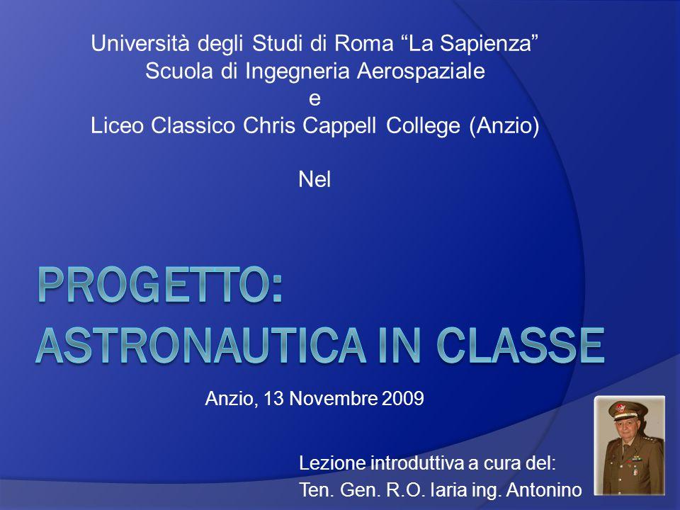 PROGETTO: ASTRONAUTICA IN CLASSE