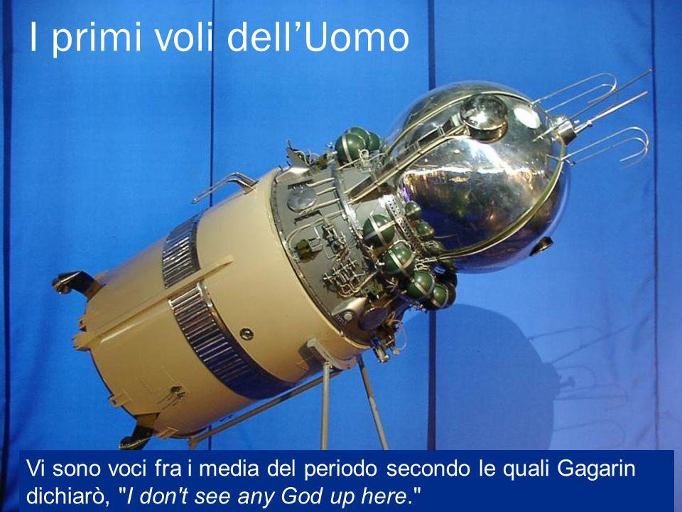I primi voli dell'Uomo Vi sono voci fra i media del periodo secondo le quali Gagarin dichiarò, I don t see any God up here.