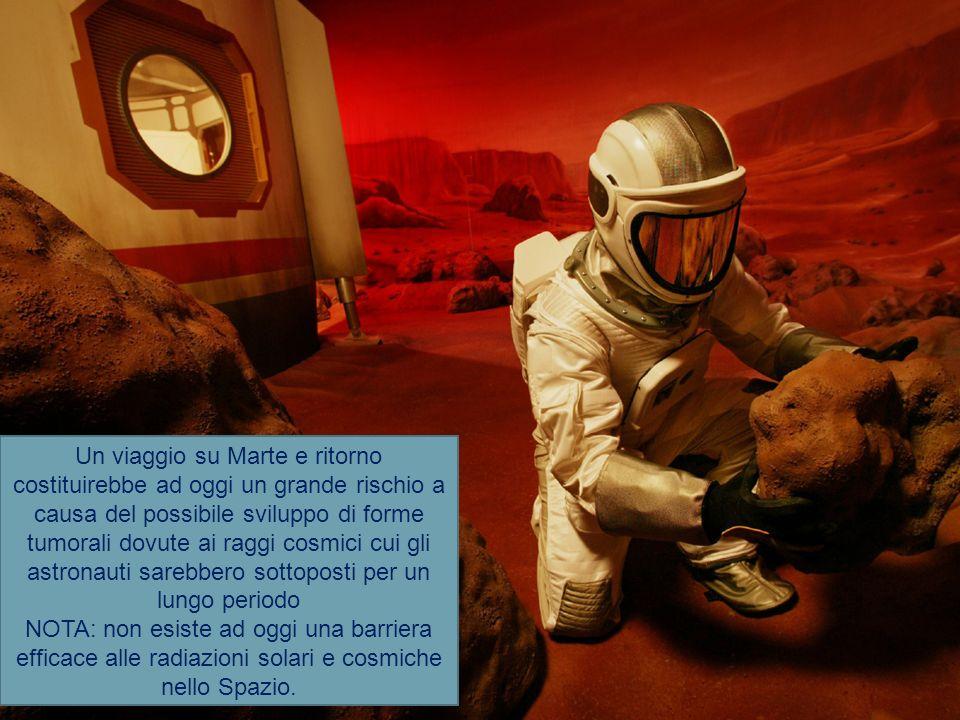 Un viaggio su Marte e ritorno costituirebbe ad oggi un grande rischio a causa del possibile sviluppo di forme tumorali dovute ai raggi cosmici cui gli astronauti sarebbero sottoposti per un lungo periodo