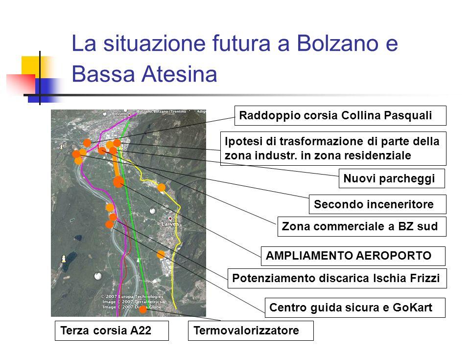 La situazione futura a Bolzano e Bassa Atesina